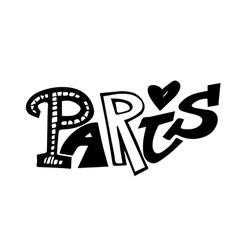 Paris lettering vector image