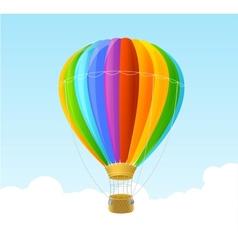 rainbow air ballon background vector image vector image