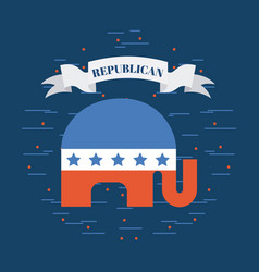 Republican party emblem image vector