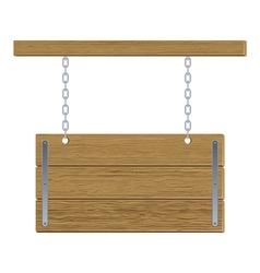 Retro wooden board vector image vector image