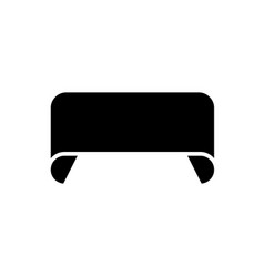 ribbon 2 rounded icon black vector image vector image