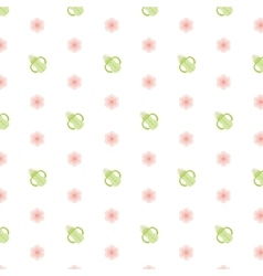 Seamless baby pattern Feeding bottle vector image vector image