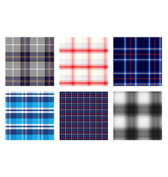 Seamless checkered plaid pattern bundle 2 vector