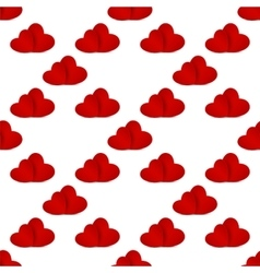 Seamless pattern with red hearts vector image vector image