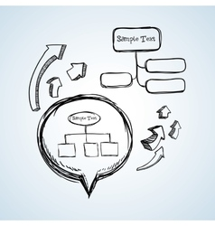 sketch icon creative concept Flat illiustration vector image