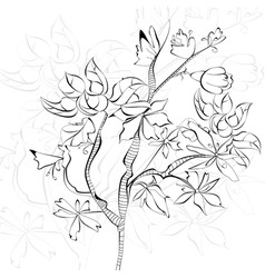 sketch with decorative tree vector image