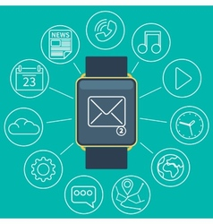 smart watch flat vector image