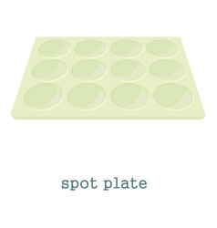 spot plate icon cartoon style vector image