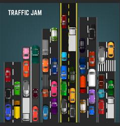 traffic jam concept vector image