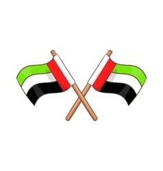 UAE flag icon cartoon style vector image vector image