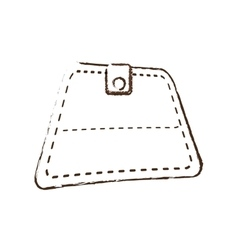Wallet save money icon sketch vector