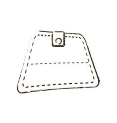 wallet save money icon sketch vector image vector image