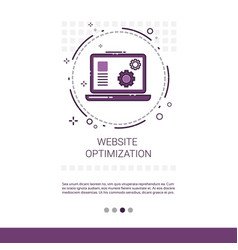 web optimization software development computer vector image