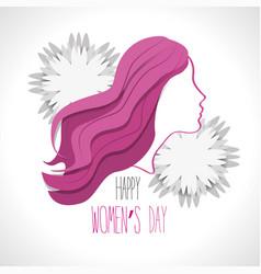 Women day card icon vector