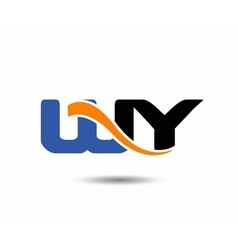 Wy initial company group logo vector