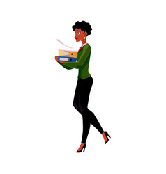 Young black african american businesswoman woman vector