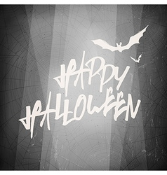 Halloween design template card Abstract film noir vector image