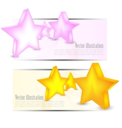Set of banners with stars vector image