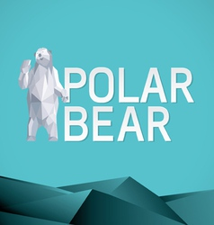 Polar bear stylized triangle vector