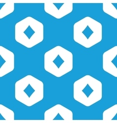 Diamonds hexagon pattern vector