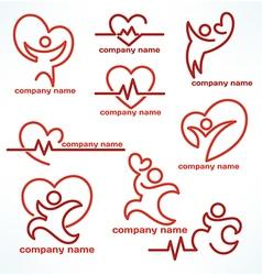 heailth logo vector image