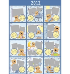 babys monthly calendar vector image