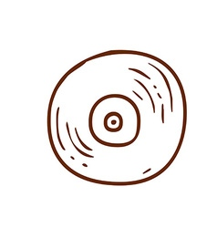 Hand drawn vinyl record vector