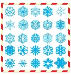 Snowflake silhouettes set vector