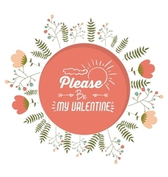 valentines card design vector image