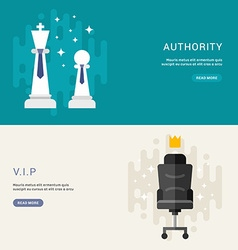 Set of business concepts for web banners vip vector