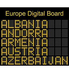 Europe airport digital boarding vector
