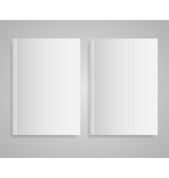 Blank empty magazine or book Mock up Two vector image vector image