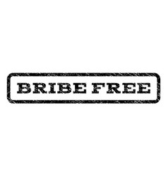Bribe free watermark stamp vector