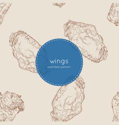 buffalo chicken wings seamless pattern vector image