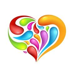 Colourful abstrak icon of heart vector