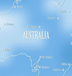 Creative map of Avstrali vector image