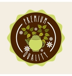 delicious tea design vector image