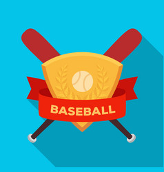 Emblem baseball single icon in flat style vector