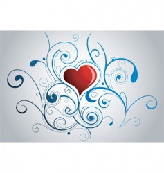 fairytale heart vector image