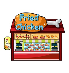 fast food restaurant vector image vector image