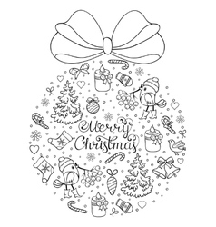 hand drawn christmas pattern vector image