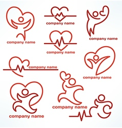heailth logo vector image vector image