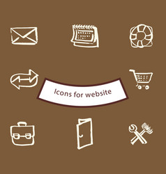 Icons for websites vector