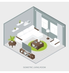 Isometric sitting room vector