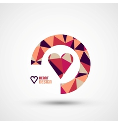 Mosaic heart design vector image