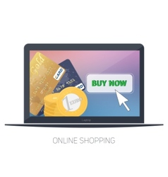 On line store Sale Laptop and smart phone with vector image vector image
