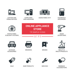 online appliance store - modern simple thin line vector image vector image