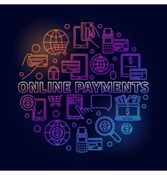 Online payments bright vector