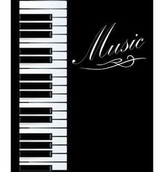 Piano background vector image
