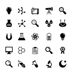 Science and technology glyph icons 5 vector